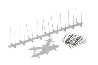 Barrière métallique anti-pigeons