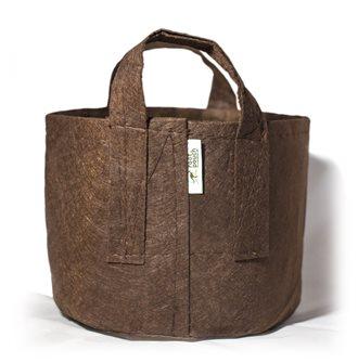 Pot géotextile à poignées marron 39 litres