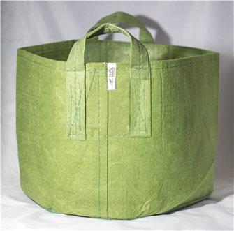 Pot géotextile à poignées vert olive 39 litres