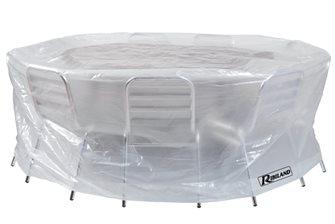Housse 90 g pour table ronde et chaises diamètre 200 cm