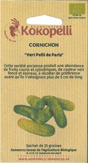 Graines de cornichon vert petit de Paris