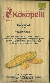 Graines de maïs Golden Bantam