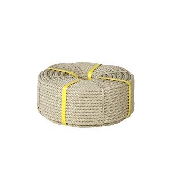 Corde 10 mm couronne 100 m résistance 1 390 kg beige en polypropylène anti-UV fabriquée en France